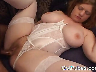 Big tit MILF get her hairy snatch pounded