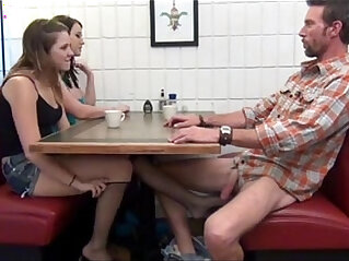 Cialis Porn Tube Buy Cialis daughter gives Footjob and BJ to not her dad Under Table Porn Tube
