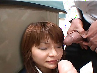 BUKKAKE Japanese Uncensored blowjob bukkake