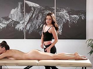 Celeste Star meets her masseuse fangirl Gia Paige Fantasy Massage