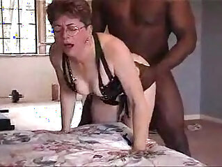 Lovely grandma from gets cunt fucked by black friend