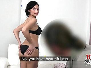 Sexy solo girl love deep anal cumshot