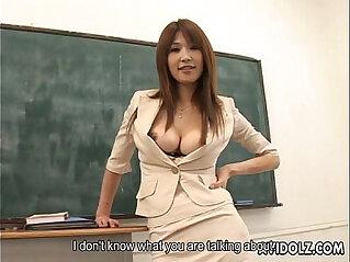 Hot busty Ai Kurosawa dirty teacher with huge tits!