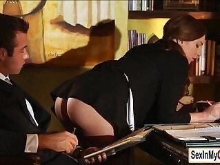 office - Sexy secretary fucked on the table