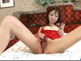 Extreme solo with horny milf in lingerie Hikaru Aoyama