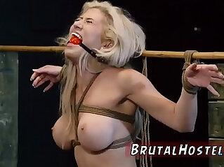 Bondage anal gang rough blowjob cum swallow Big breasted blond hottie