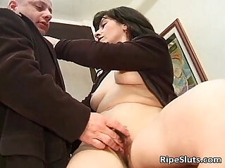 Dirty old milf got banged on the office