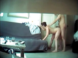 hot brunette cheating sexy wife caught on hidden cam