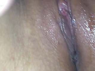 Licking my college girlfriend juicy wet amateur shaved pussy close up