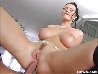 Ass Traffic huge big tits fucked and double penetrated