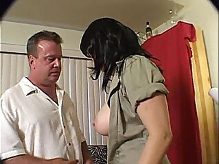Gorgeous Hairy Brunette getting screwed