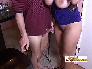 MILF - Tipsy milf slut drilled hard by the horny bartender at the bar