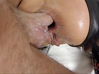 Balls deep hard anal fucking
