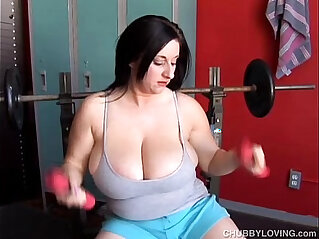 Horny huge round tits BBW fucks her fat juicy pussy for you