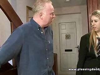Two dirty old brits shave and fuck a young pussy