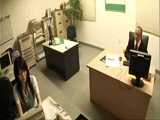 Japanese Office Secretary Blows the Boss and Gets hard Fucked