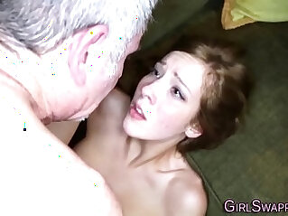 Stiefvater - Teen sucks and fucks old stepdad