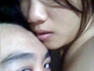 Thai teen make her bf cum nipple play