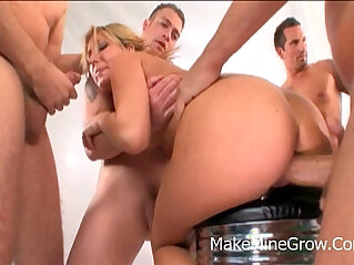Joey Valentine Double Penetration For Hot Blonde Chick