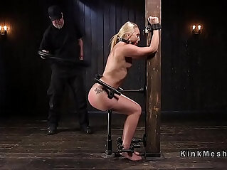 Perfect blonde floggen and anal fucked