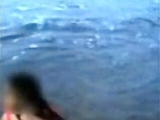 Indian Mom On Beach