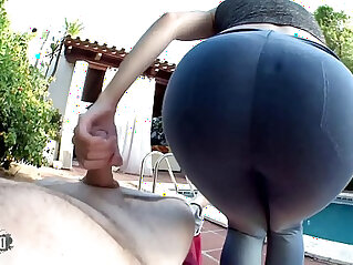 Pauline Cooper spandex Leggings fetish and POV fucking