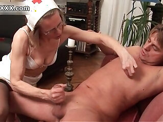 Nasty wild mature woman goes crazy jerking