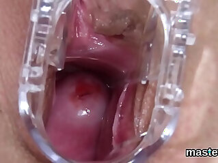 Peculiar czech kitten gapes her narrowed vagina to the extreme
