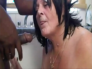 Slutty grandma from sucks black cock