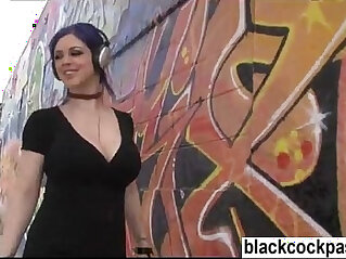 Black monster cock slut goes out in search of bbc