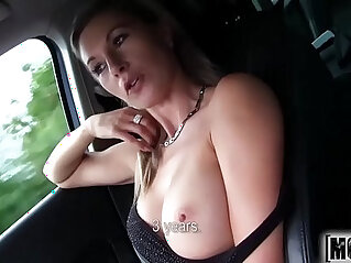 Hot Blonde Hitchhiker video starring Alena