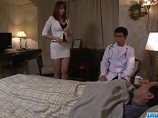 Araki Hitomi busty blonde milf craves for a hard anal fuck