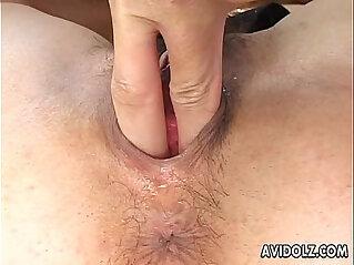 Yummy Japanese babe enjoys smutty group pounding