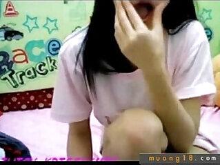 Em girl come and show hang cao long truoc webcam