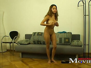 Porn Interview with horny Teen Melanie 20y in