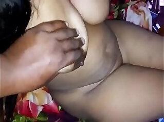 Horny Desi big boobs wife give you a handjob n hard nip press